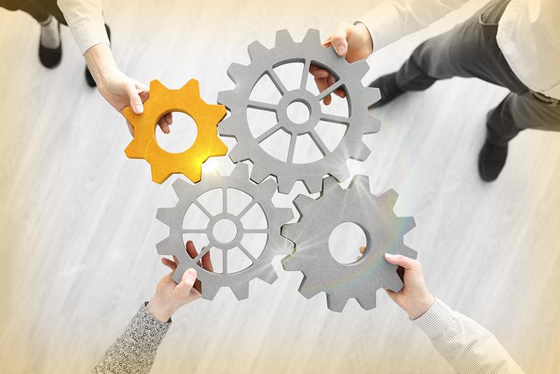 Illustration: Samverkan med företag