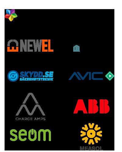 EEoT - Samarbetsföretag logotyper